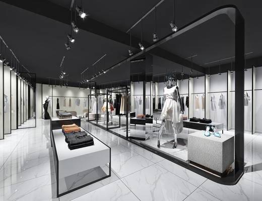 现代服装展厅