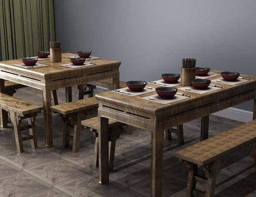 餐桌椅組合, 餐具組合, 中式
