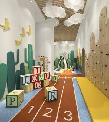 现代儿童娱乐区, 工装