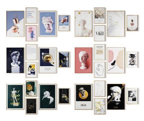装饰画, 组合画, 照片墙, 现代