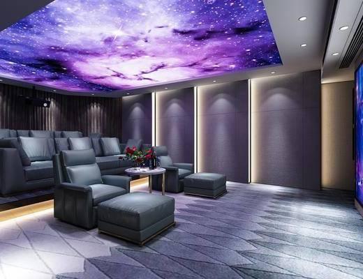 电影院, 沙发, 巨幕