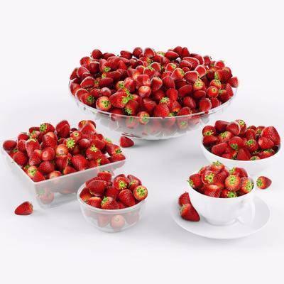 草莓组合, 摆件, 现代