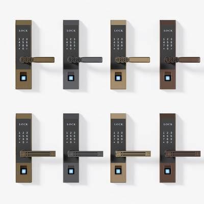 门把, 把手, 指纹锁, 智能锁, 指纹门把