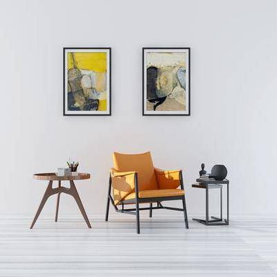 单椅, 休闲椅, 装饰画, 挂画, 边几, 圆几, 角几