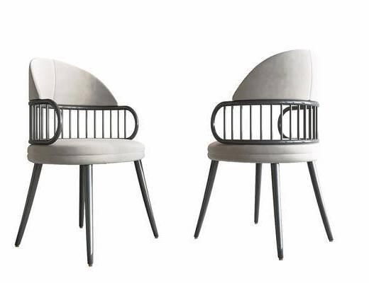 现代, 餐椅, 单椅, 单体