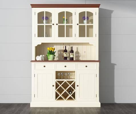 酒柜, 红酒, 绿植