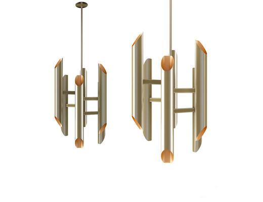现代简约, 金属吊灯, 现代吊灯, 吊灯