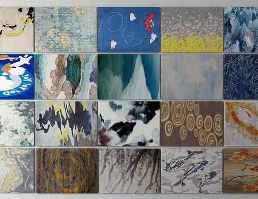 地毯组合, 方形地毯, 现代