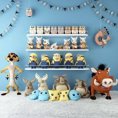 儿童, 玩具, 组合