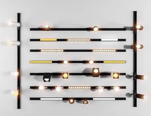 射灯, 轨道灯, 灯具, 灯饰