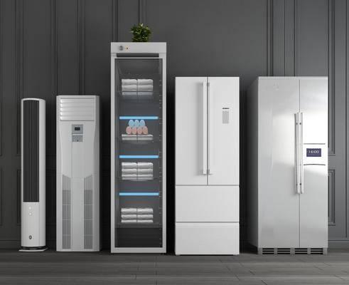 双开冰箱, 冰柜, 单开冰箱, 智能冰箱, 空调组合, 现代