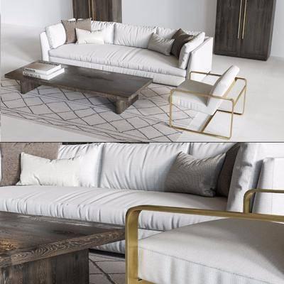 沙发组合, 沙发茶几组合, 现代沙发, 多人沙发, 休闲沙发, 茶几, 现代