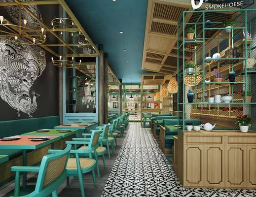 东南亚, 餐厅, 工装