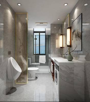 新中式, 壁灯, 家用电器, 马桶, 卫浴用品