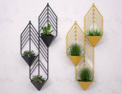铁线挂墙, 花架, 墙饰, 绿植植物, 现代