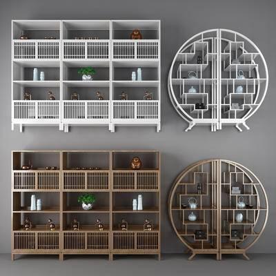 博古架, 书架, 置物架, 中式, 装饰架