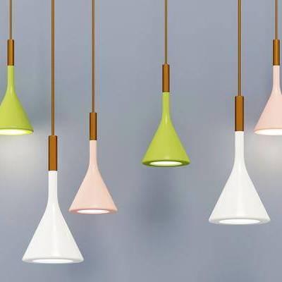 吊灯, 彩色吊灯组合, 现代, 双十一