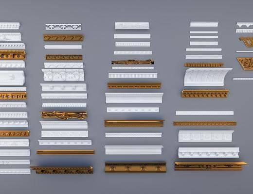 石膏線, 構件, 歐式