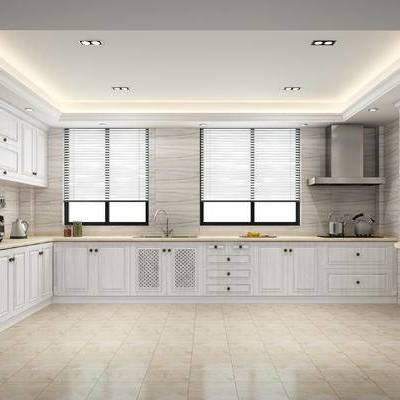 欧式, 厨房, 橱柜, 简欧, 现代, 厨柜, 厨具