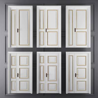 母子门, 推拉门, 简欧门, 门构件, 门, 构件