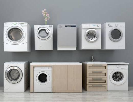 现代洗衣机, 现代, 洗衣机, 花瓶