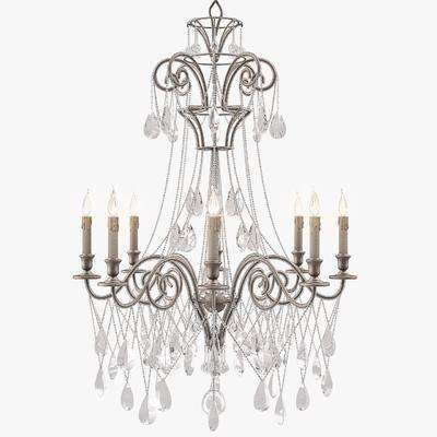 吊灯, 欧式, 简欧, 水晶吊灯, 灯, 灯具