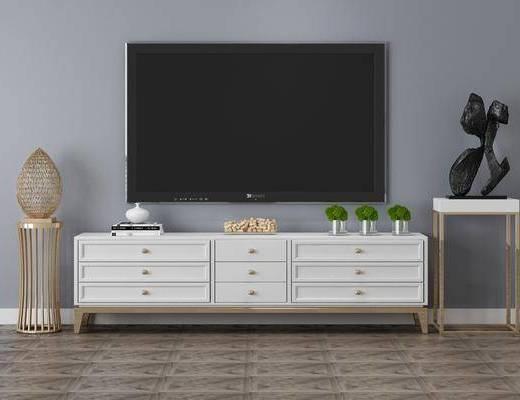 電視柜, 擺件組合, 裝飾物件