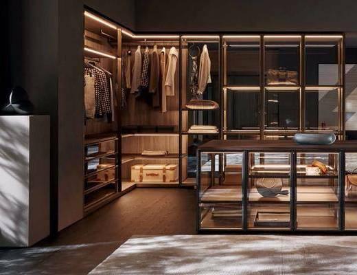 衣帽间, 现代衣帽间, 衣柜, 衣服