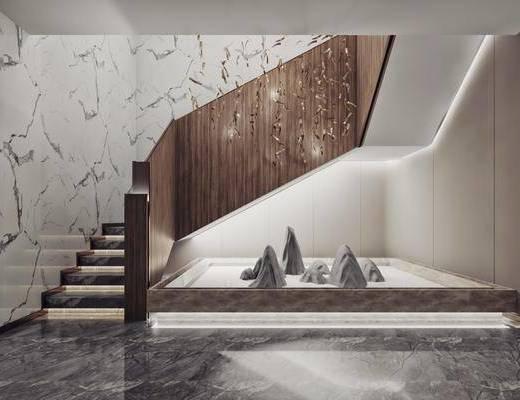 樓梯間, 干景組合, 新中式