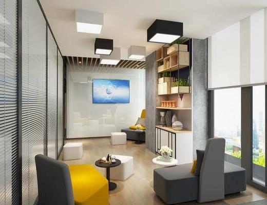茶水间, 休息室, 休闲区, 沙发, 办公室