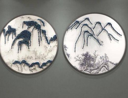 山水画, ?#37096;?#30011;, 装饰画, 新中式