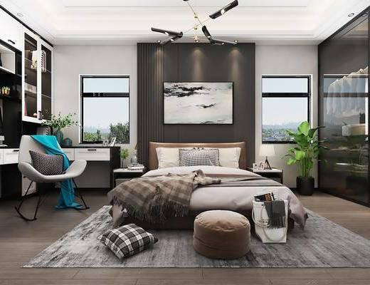 臥室, 床具組合, 衣柜服飾, 桌椅組合, 裝飾柜組合, 擺件組合, 裝飾品, 北歐