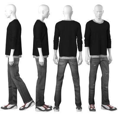 服装, 衣服, 男装, 模特, 现代