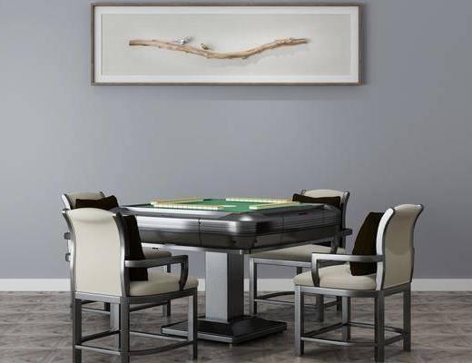 麻将桌组合, 挂画, 现代
