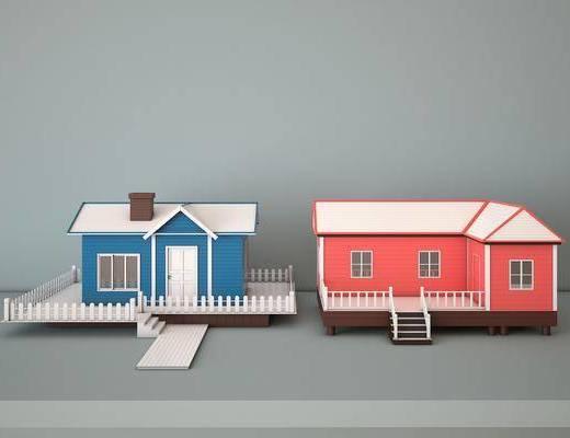 防腐木屋, 别墅, 移动房, 现代