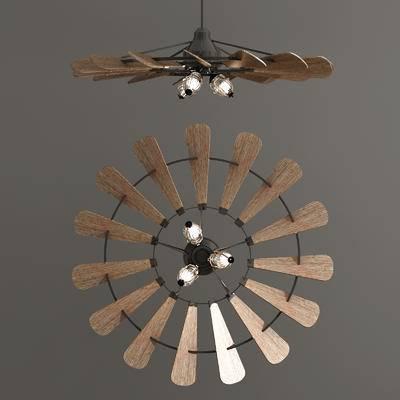 风扇灯, 灯具