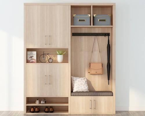 衣柜, 装饰柜, 鞋柜, 摆件, 装饰品, 陈设品, 现代