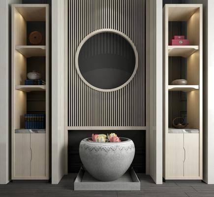新中式装饰柜, 装饰柜, 置物柜, 中式装饰柜, 中式置物柜
