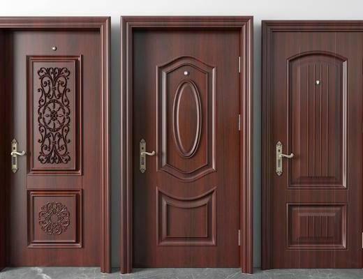 平开门, 新中式实木门, 房门