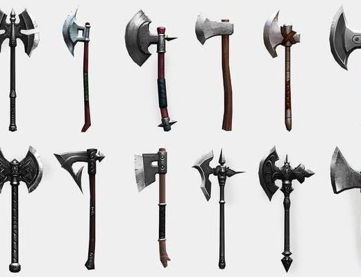 戰斧斧頭, 游戲武器, 現代