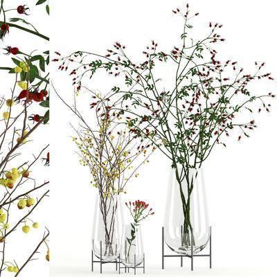 花卉花瓶, 植物组合, 现代