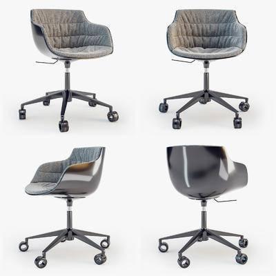 单人椅, 滑轮椅, 办公椅, 现代