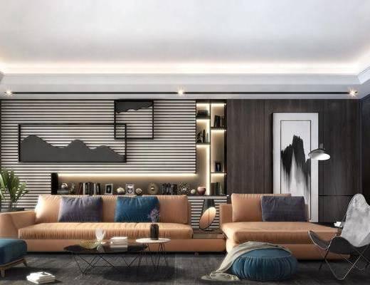 沙發組合, 沙發茶幾組合, 擺件組合, 墻飾, 裝飾品, 陳設品, 現代
