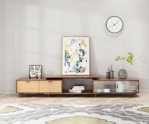 电视柜, 柜架组合, 摆件组合, 墙饰