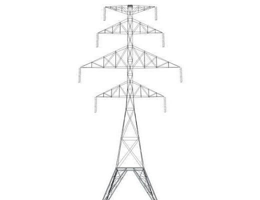 电线杆, 高压线