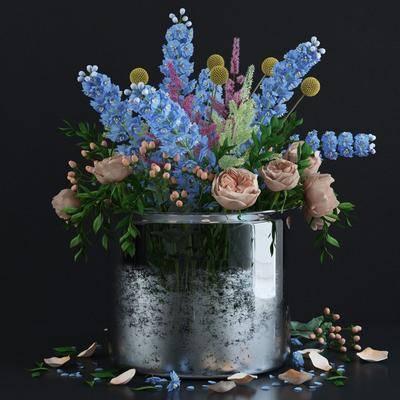 花瓶, 花卉, 装饰花, 现代