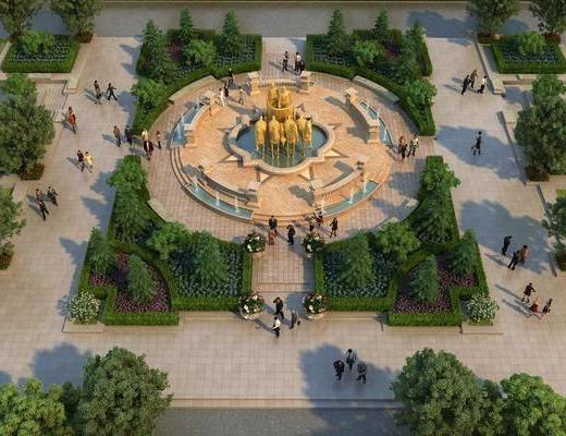 广场, 喷泉