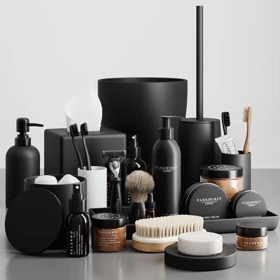 肥皂, 牙刷, 牙膏, 马桶刷, 浴室用品