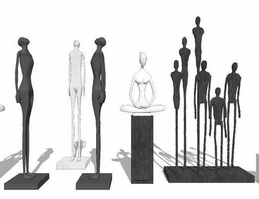 摆件组合, 雕塑, 雕刻