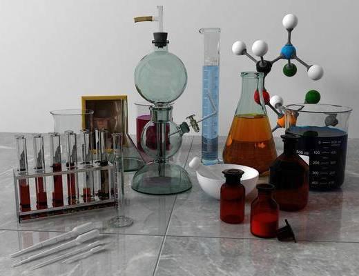 实验容器, 摆件组合, 现代